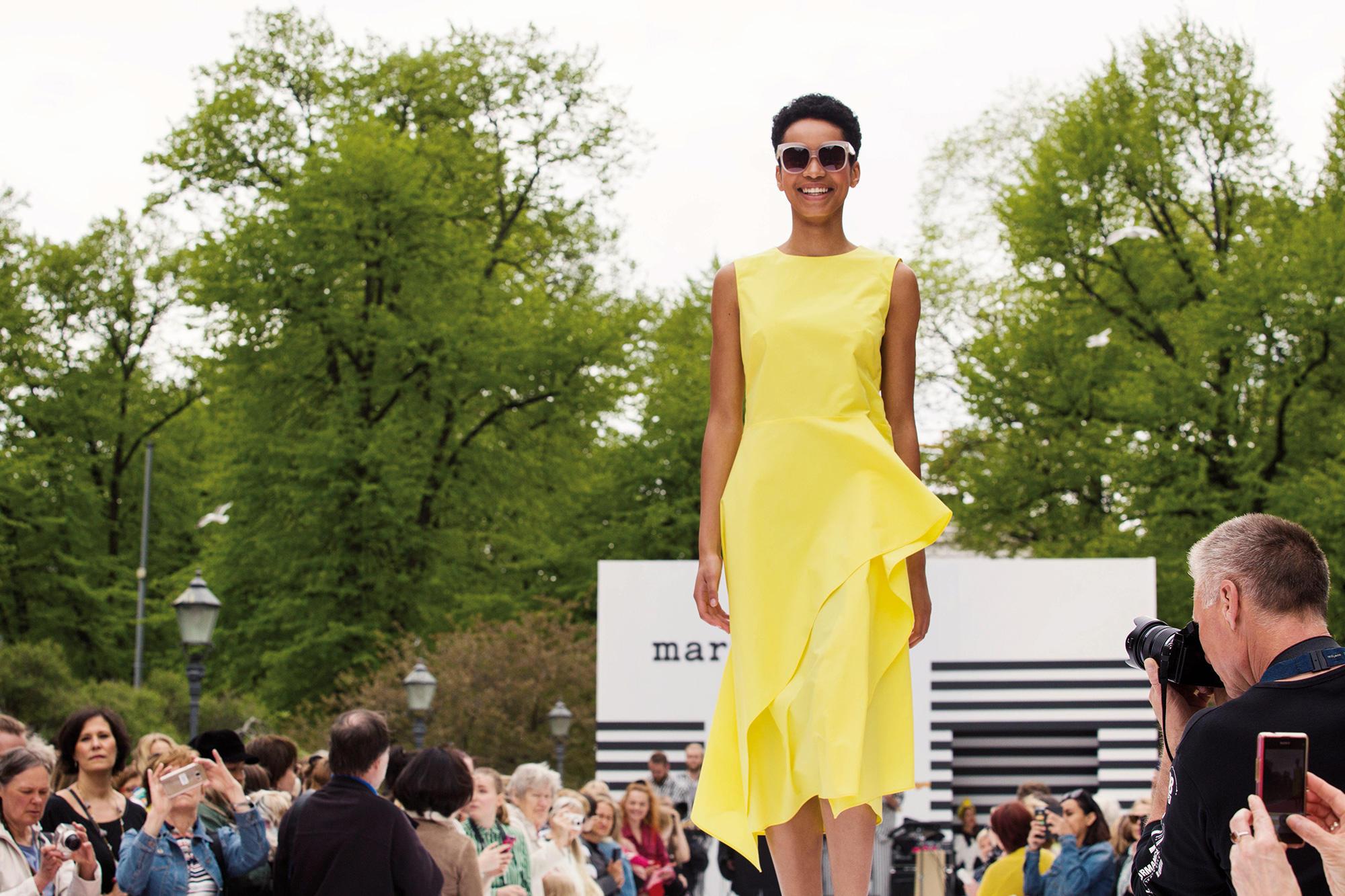 Fashion Show in Helsinki's Esplanade Park