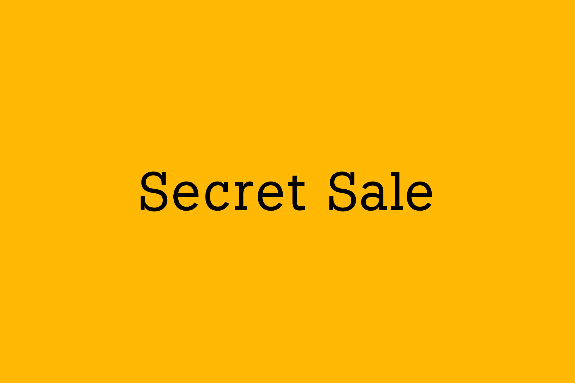 8.18-【会員限定】Secret Sale