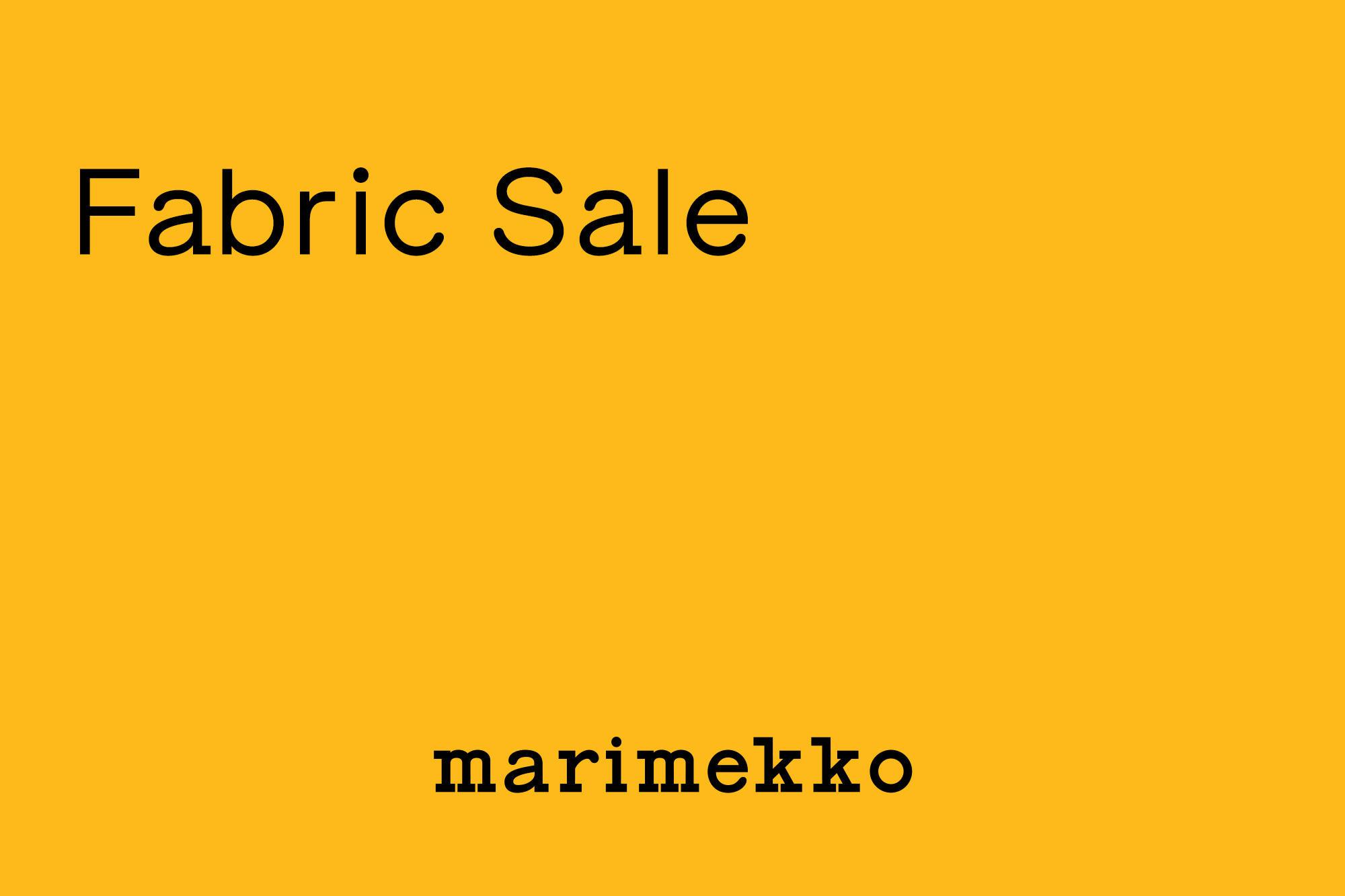 7.2- Fabric Sale スタート!