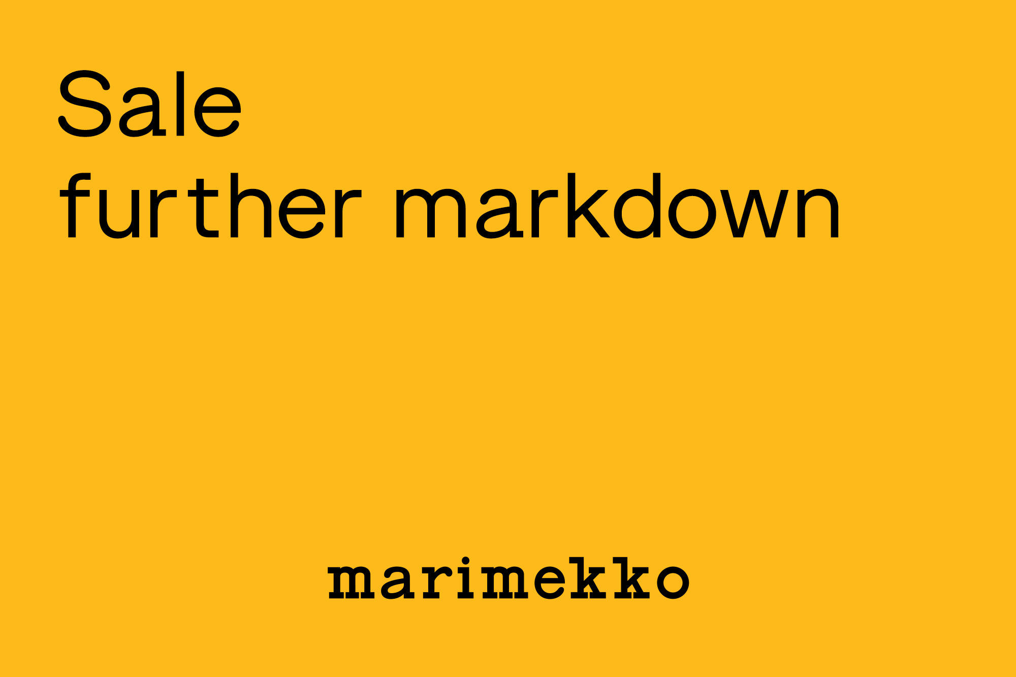 7.21- Sale further markdown